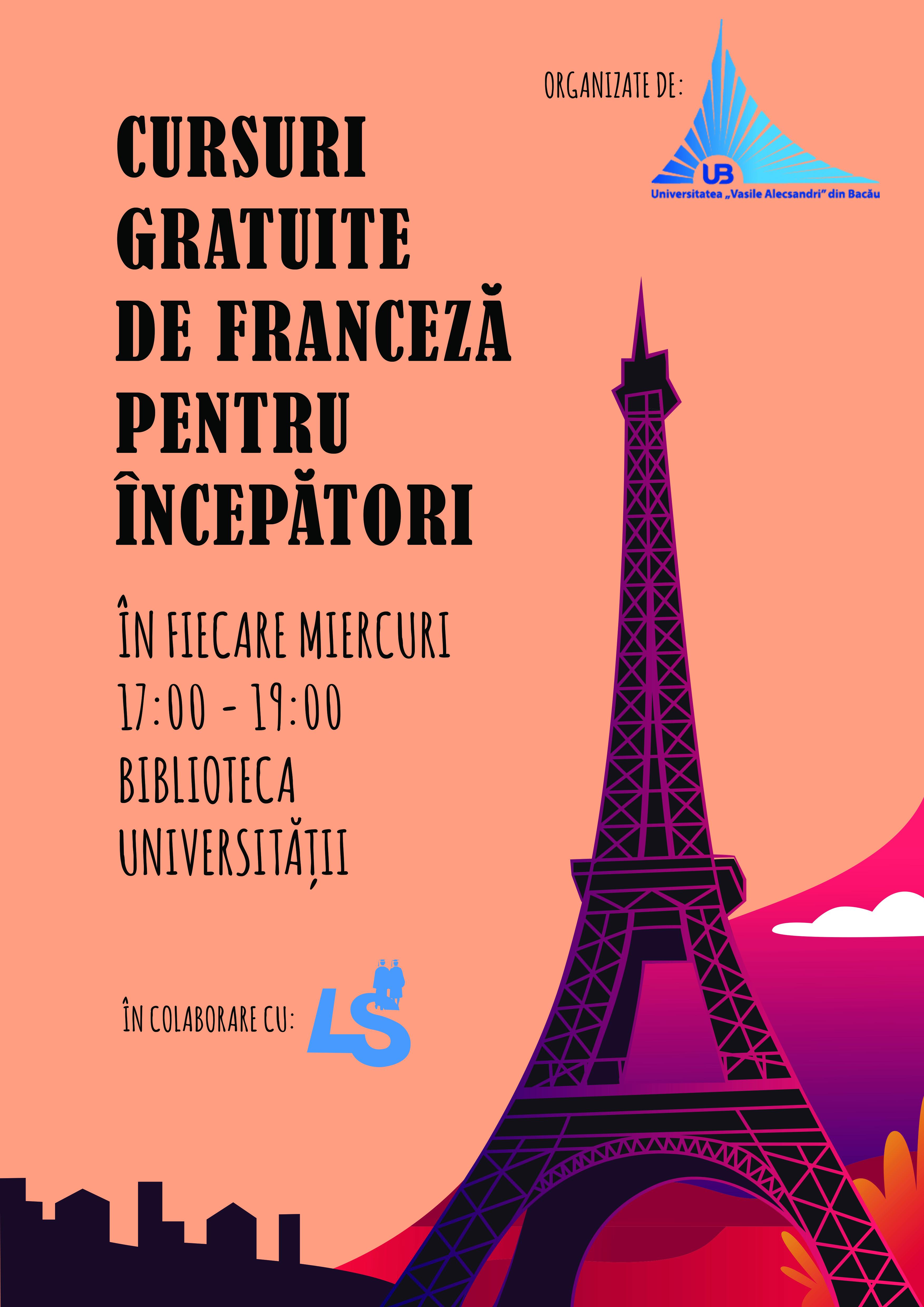 Cursuri gratuite de franceză pentru începători