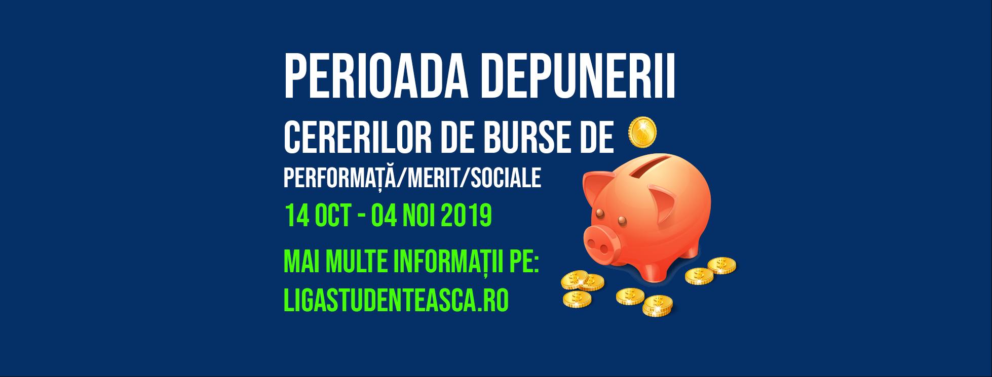 Depunerea burselor pt semestrul I – 2019 – 2020
